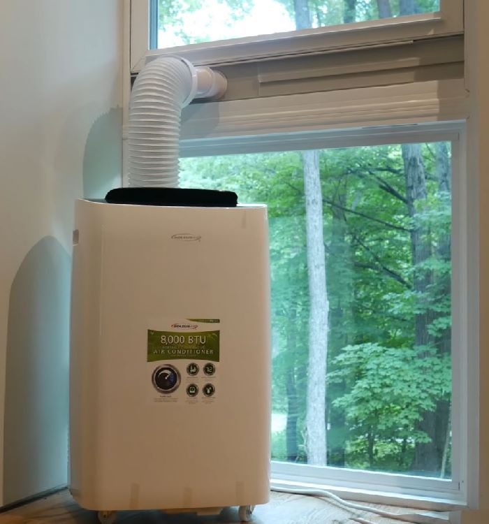 How To Vent A Portable Air Conditioner Thru The Wall | Casement Or Awning Window | Door